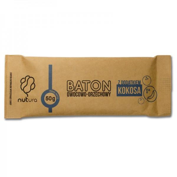 Baton owocowo-orzechowy z dodatkiem kokosa