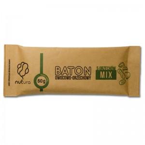 Baton owocowo-orzechowy mix 5 orzechów