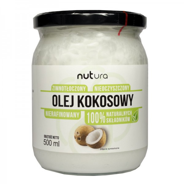 Olej kokosowy tłoczony na zimno, nierafinowany