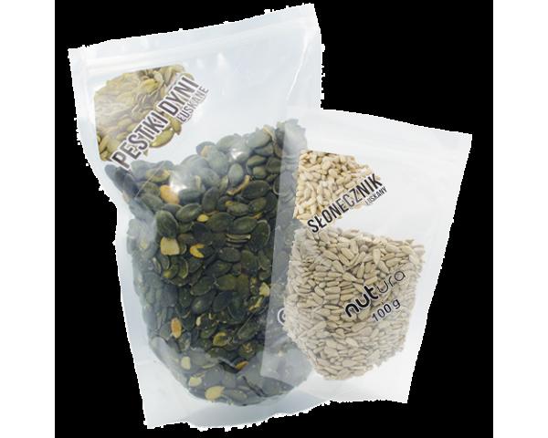 Ziarna i pestki: jadalne nasiona, sezam, siemię lniane, soczewica